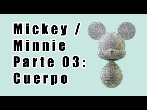 Como hacer una piñata de Minnie / Mickey | Parte 03 | Cuerpo