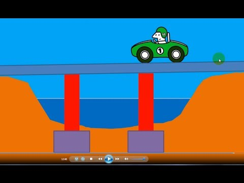 Make a Simple Bridge Animation in Powerpoint and export a video file - Powerpoint for Engineers
