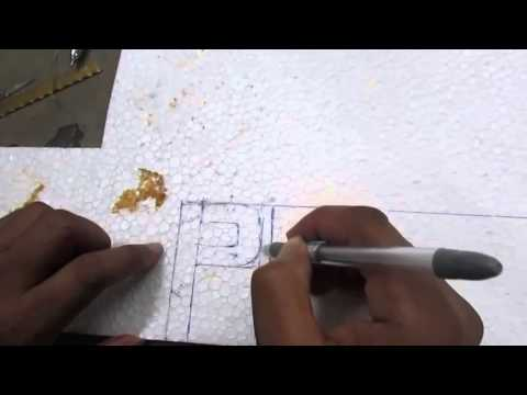 How to Write Letter By Thermocol and Wedding Decoration part 1 of 3