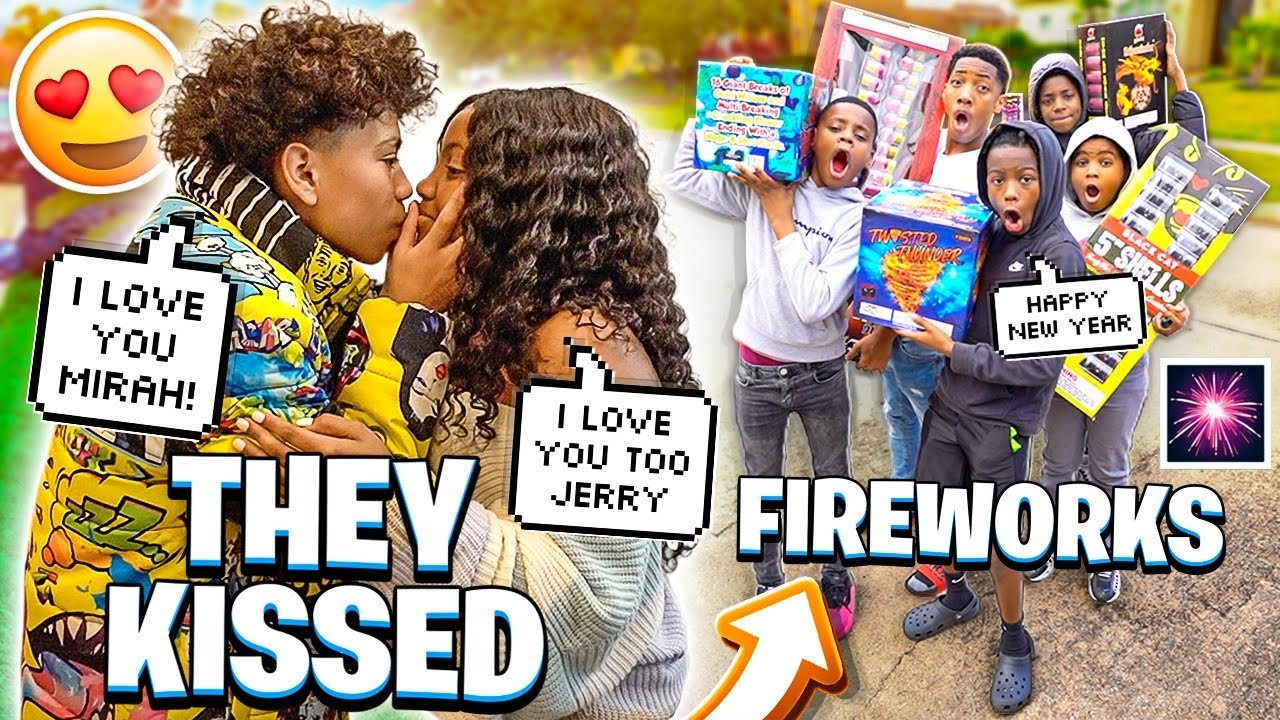 WE WENT BOUGHT FIREWORKS FOR NEW YEARS & JERRY FINALLY KISSED MIRAH!