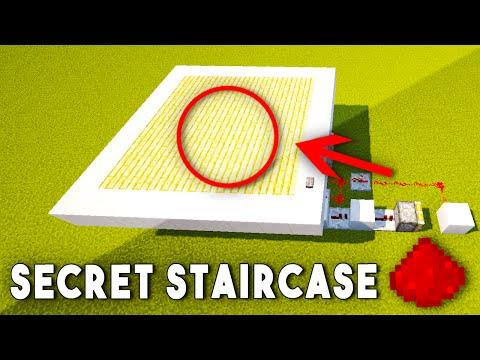 HIDDEN REDSTONE STAIRCASE ENTRANCE - Minecraft Redstone Tutorial