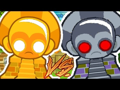 EXPERIMENT SUN GOD VS ROBO MONKEY (TECHNOLOGICAL TERROR) CHALLENGE - BLOONS TOWER DEFENSE 5