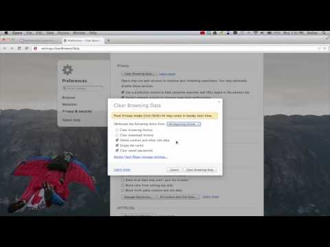 How to Clear Cookies and Cache in Opera on Mac OS X