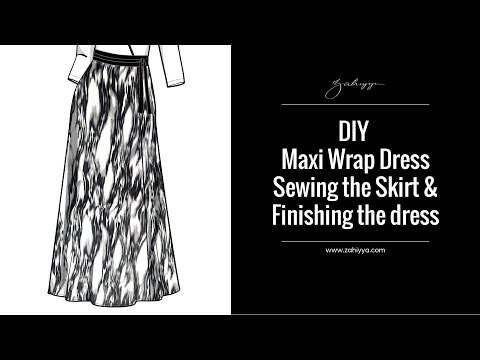 DIY Maxi Wrap Dress | Sewing the Skirt and Finishing the Dress