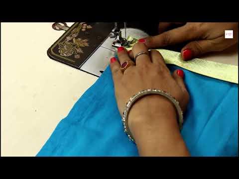 प्लेन कुर्ती में आसान तरीके से बॉर्डर लगाये, Kurti Border Design #stitchingclass