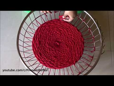 DIY - Door Mat or table mat from old clothes | Recycling old leggings | Step by step tutorial