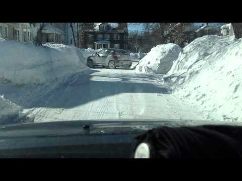 Driving around Arlington MA after 4th snowstorm of 2015
