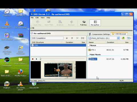 Ripping a Video_TS folder from a DVD using DVD Shrink