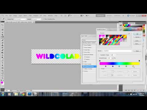 How to make a simple gradient tumblr banner