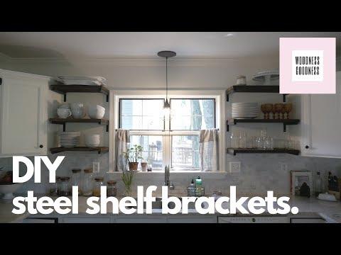 DIY Steel Shelf Brackets