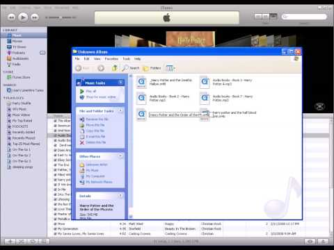 how to convert mp3's to ipod audiobooks with itunes 7.x