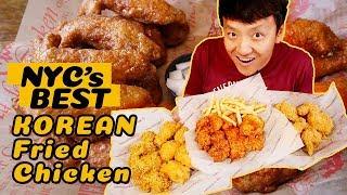 BEST Korean Fried Chicken In New York! RAMEN Chicken! SPICY CHEESE Stuffed Chicken