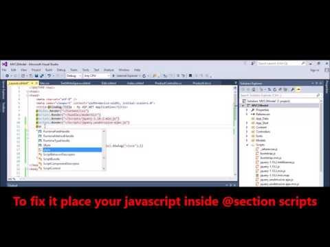 MVC -  Fix Error -  JavaScript runtime error Object doesnt support property or method dialog n