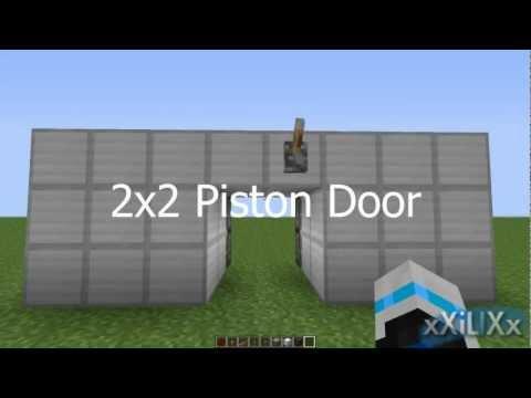 Minecraft - Super Easy and Compact 2x2 Piston Door [Tutorial]