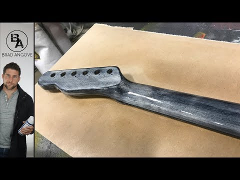 Putting the finish on a guitar neck | The guitar kit from solo music gear (Part 12)