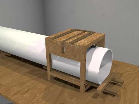 PVC pipe cutting jig (Blender render)