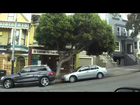 Coit Tower, Lombard Street And Hippie Hill of San Francisco CA