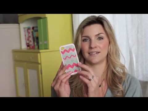 Crafty Stitching iPhone Case with cross stitch and embroidery