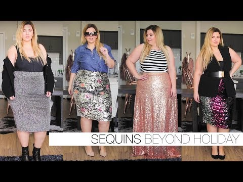 HOW TO WEAR | Sequins beyond the holidays! | PLUS SIZE FASHION | Sometimes Glam
