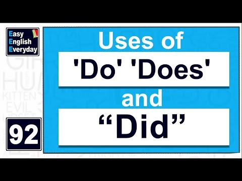 Advanced English teaching videos for adults | how to use 'Do' 'Does' And Did | Free English Course