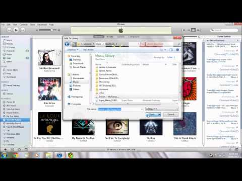 How to put music files onto itunes - Simple (Bearshare)