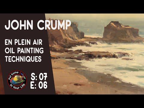 John Crump paints Plein air in Oil Paints