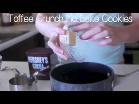 Toffee Crunch No Bake Cookies