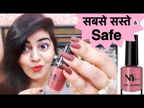 Cheapest Nail Paints   Good quality   NY Bae Nail Polish   Review & Swatches   JSuper Kaur