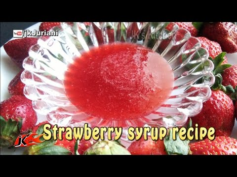 Strawberry syrup recipe for ice cream toppings | JK's Kitchen 062