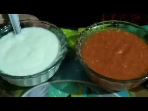 Momos chutney and white sauce recipe