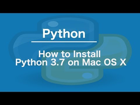 How to Install Python 3.7 on Mac OS X