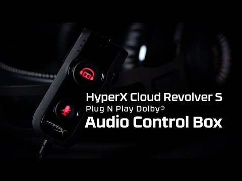USB Audio Control Box, Dolby DSP Sound Card features of the HyperX Cloud Revolver S Gaming Headset