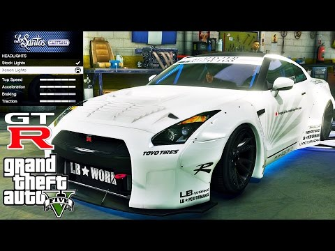 Liberty Walk Nissan GT R 🚗 GTA V ☢ Extreme Graphics !!!