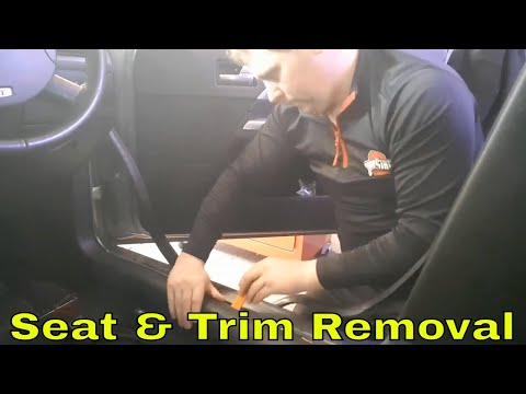 How to: Seat & trim removal to run amp wires Ford Mondeo MK3