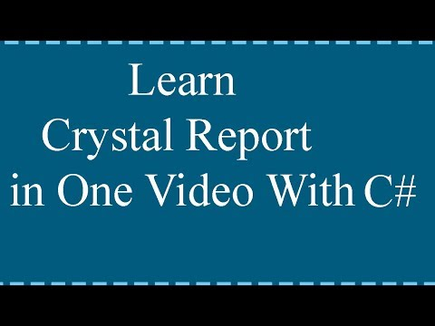 Crystal Report Tutorials For Beginners Using C#