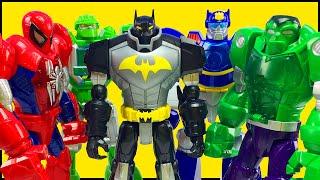 Hulk Iron Man Spiderman Mech Armor Batman Unlimited Ultimate Bat Mech Rescue Bots Robot Battle Slam