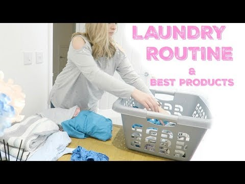 MY LAUNDRY ROUTINE 2018 | MUM / MOM OF TWO CLEANING ROUTINE | MRS SMITH & CO.