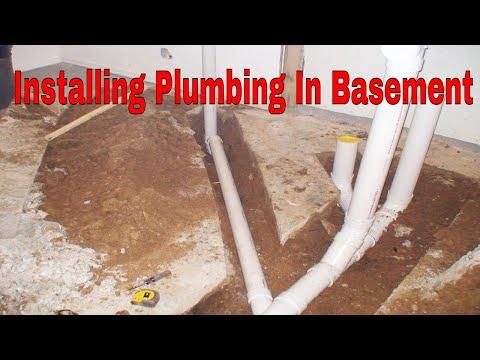Installing Plumbing In Basement for A New Bathroom 👍👍👍
