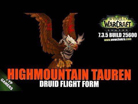 Hightmountain Tauren Druid Flight Form | World of Warcraft Legion