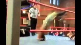 Wrestler Fails And Snaps His Neck In Replay And Slow Mo