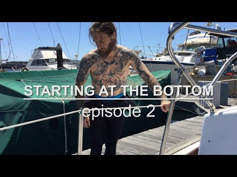 Sailing Vessel Triteia - Starting At The Bottom - Episode 2 - Cleaning the Bottom of a Sailboat