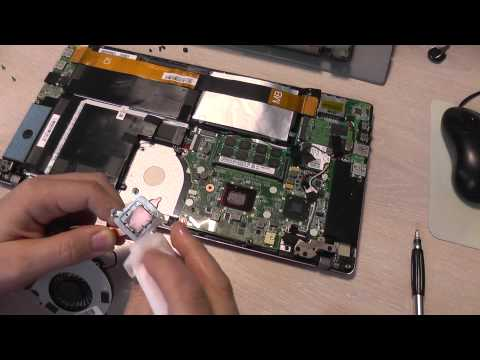 Toshiba Satellite U840W-108 Ultrabook Replace Thermal Paste and Clean the Heatsink
