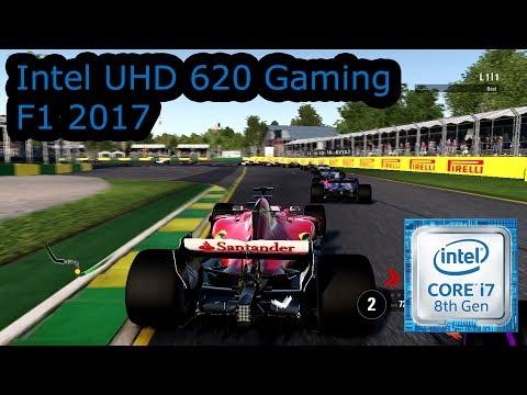 Intel UHD 620 Gaming - F1 2017 - i5-8250U, i5-8350U, i7-8650U, i7-8650U
