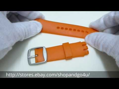For Swatch Scuba Silicone Rubber Watch Strap Band Orange (L62)