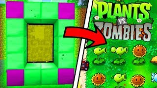 HOW TO MAKE A PORTAL TO PLANTS VS ZOMBIES DIMENSION - MINECRAFT PLANTS VS ZOMBIES