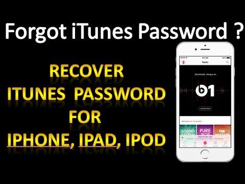 Forgot itunes password - How to recover itunes password for iphone 7/7 plus/6/6s/6 Plus/6s Plus