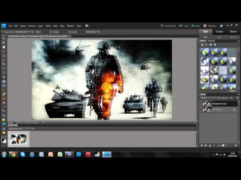 Create 3D Images In Photoshop Elements 9