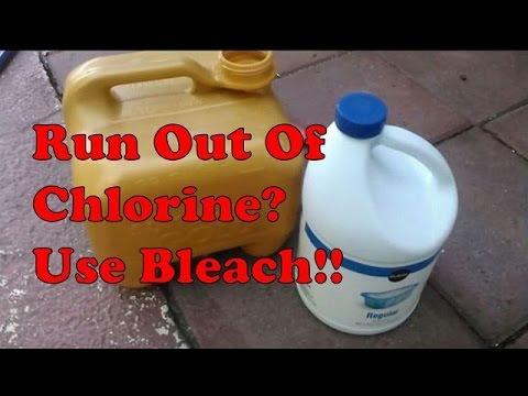 No Chlorine? Use Bleach Instead.