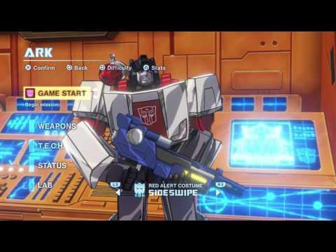 Transformers: Devastation - Change Characters in ARK: Nemesis Prime, Goldfire, Red Alert Costumes