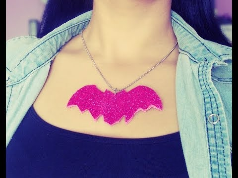 DIY BAT NECKLACE ٩(●̮̮̃•̃)۶‌